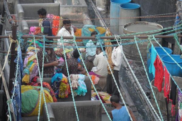 Lavanderia a cielo aperto di Mumbai