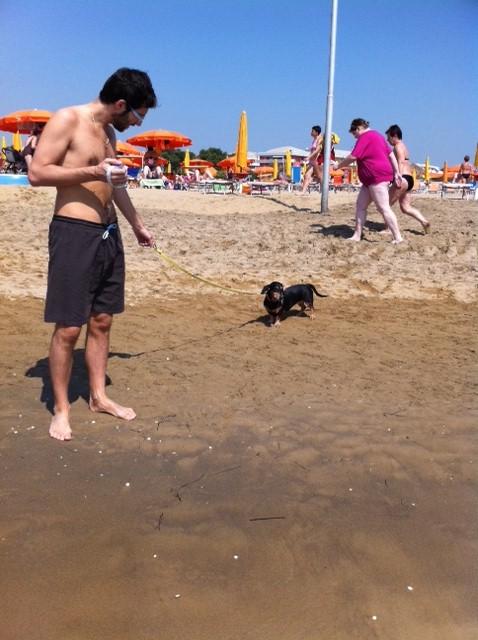 Maya in spiaggia a Bibione