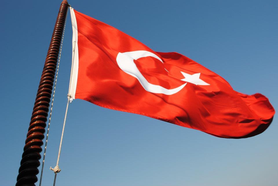 Bandiera turca sul nostro Caicco
