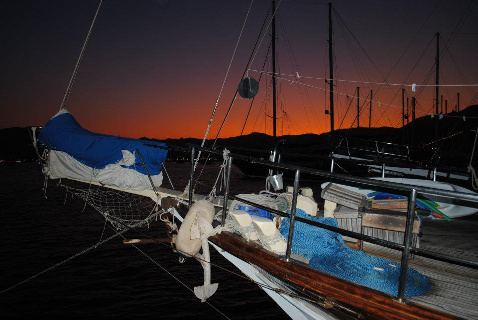 I tramonti dal caicco