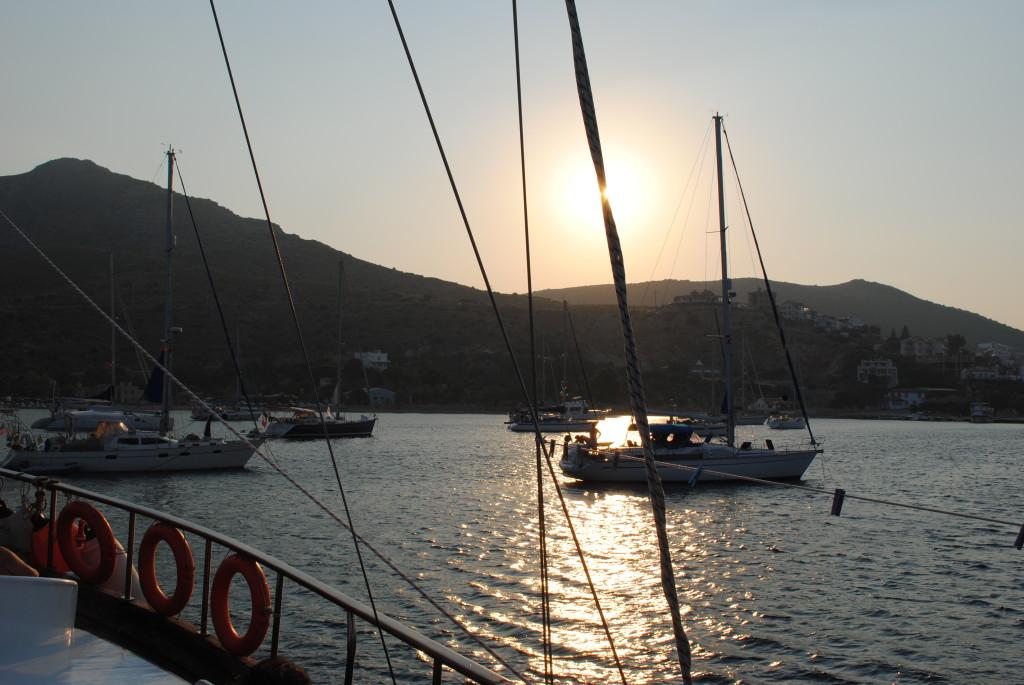 Caicco turco al tramonto
