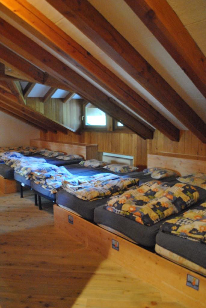 La camerata del Rifugio Bonatti