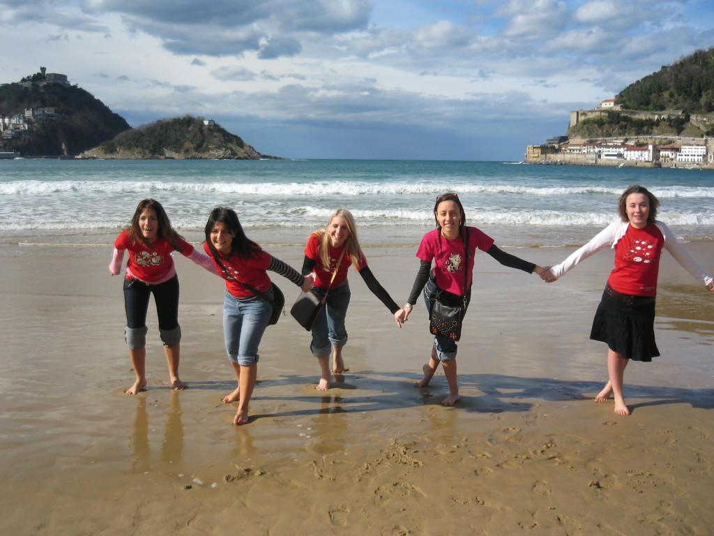 Febbraio al mare a San Sebastian