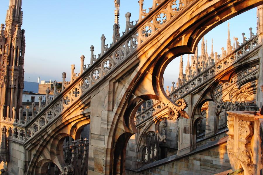 Le guglie del Duomo di Milano al Tramonto
