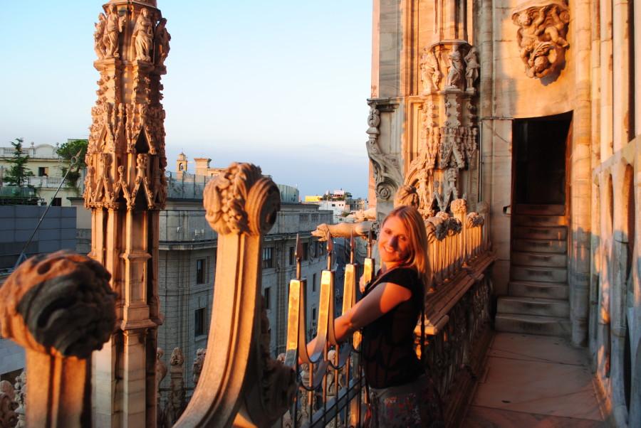 Io sul Duomo al Tramonto
