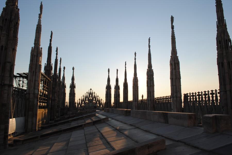 Il tetto del Duomo di Milano
