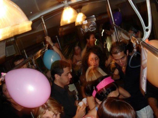 La Festa sul Tram dall'alto