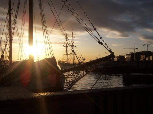 Tramonto al Porto di Oslo