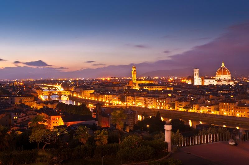 Firenze al calare della sera
