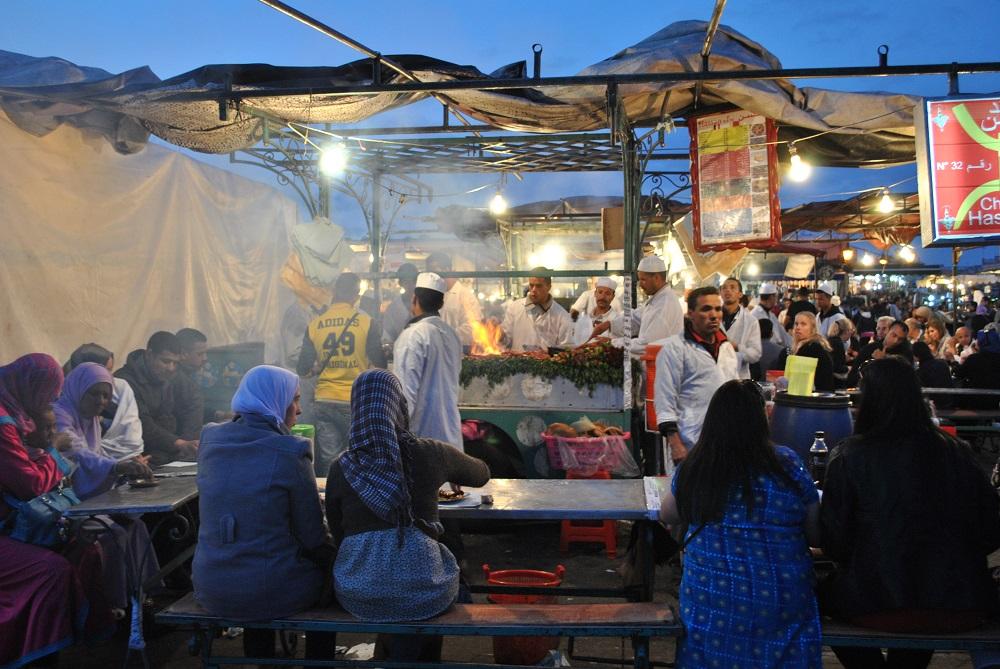 Cosa mangiare a Marrakech: cibo di strada in Piazza Jeema el Fna
