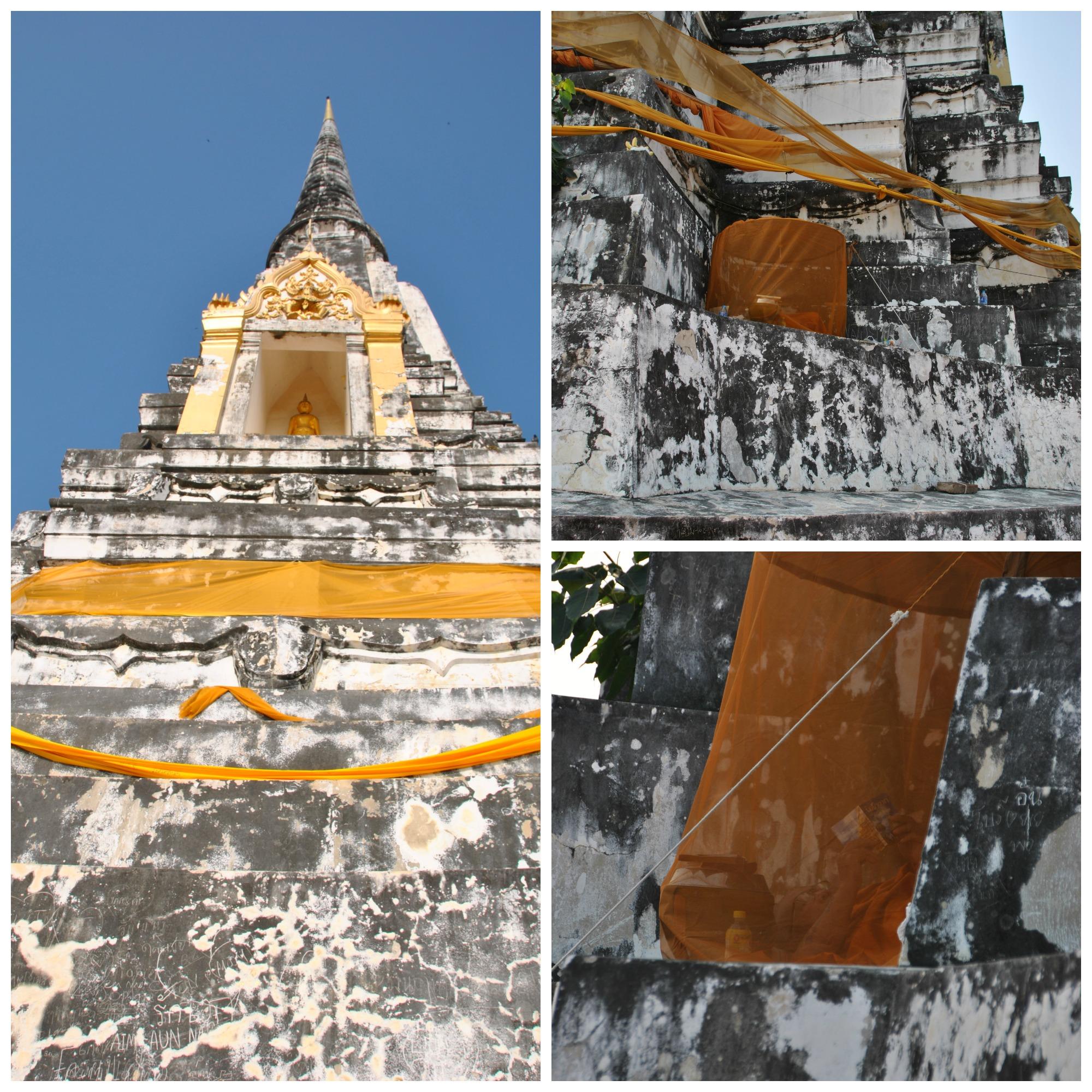 Bonzo che si rilassa sul Wat Phu Khao Thong