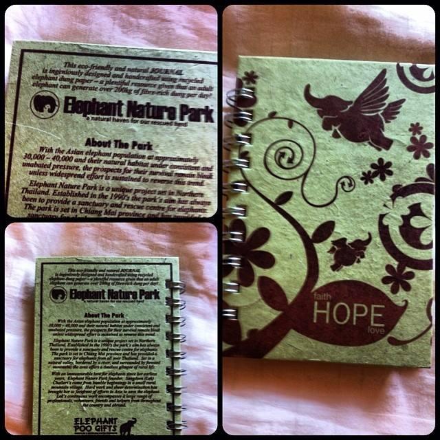 Il mio quadernino fatto con lo sterco di elefanti