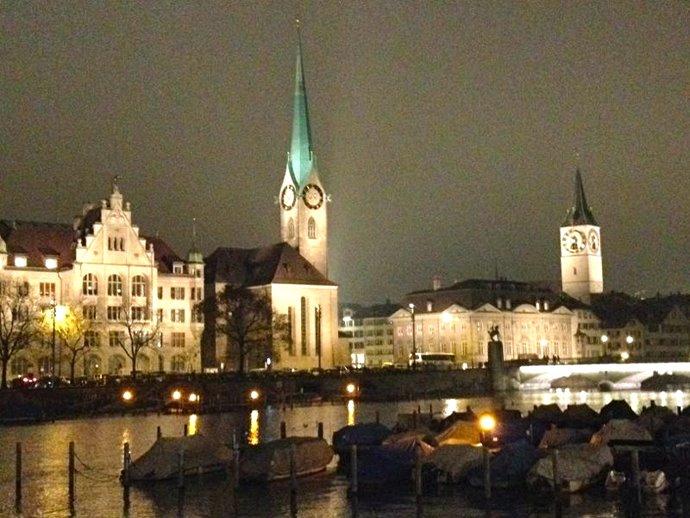 La sera a Zurigo