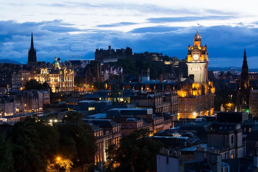 Edimburgo al tramonto