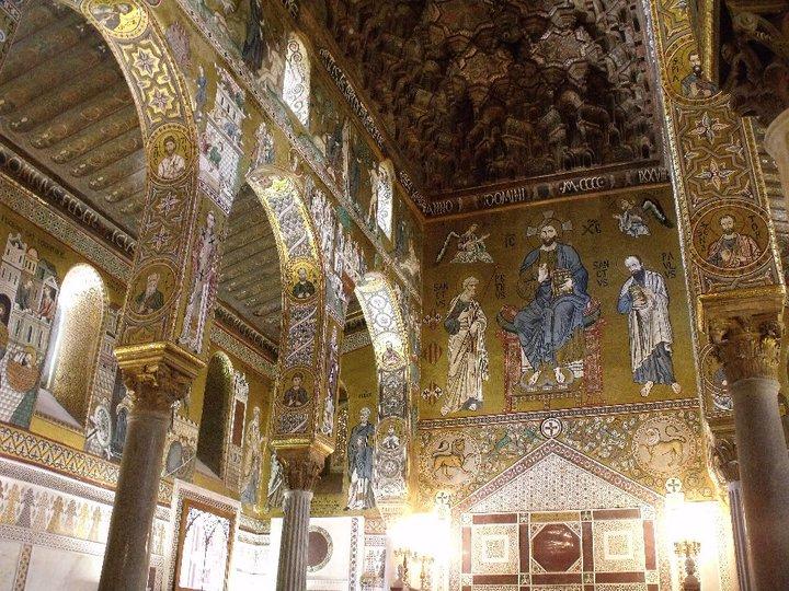 L'interno della Cappella Palatina