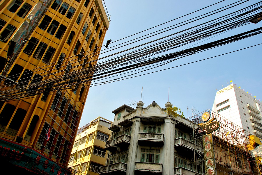 Fili della corrente in Thailandia