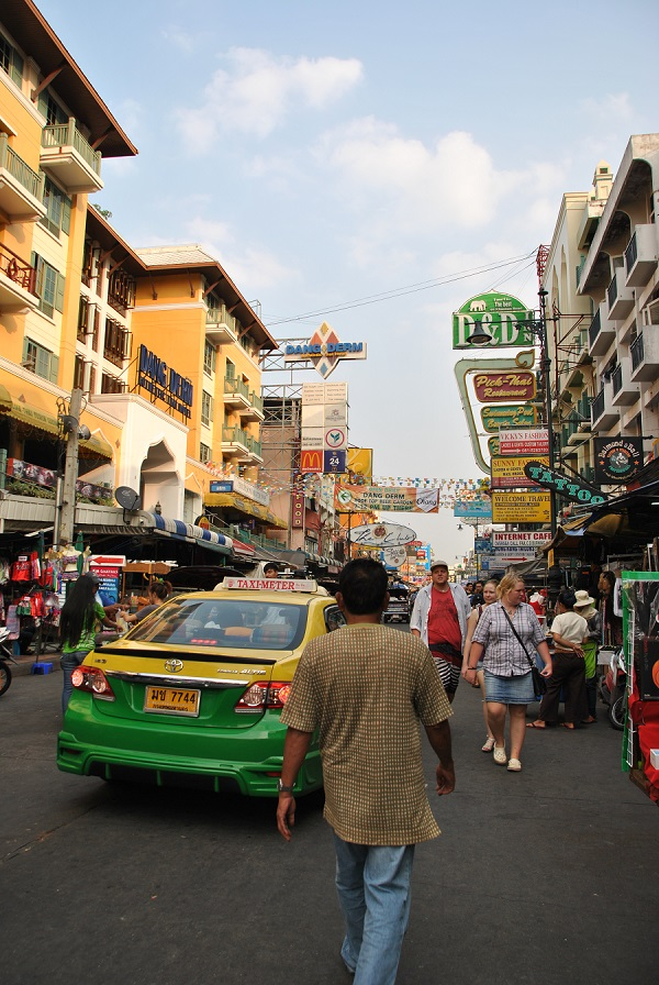 Un tipico taxi di Bangkok