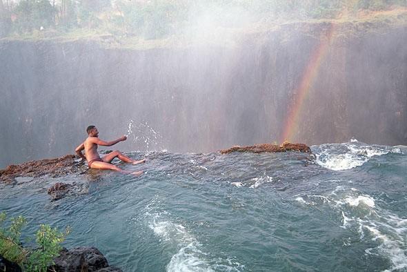 Le piscine del Diavolo in Zambia