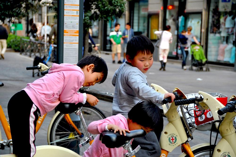 Servizio di BikeMi a Chinatown Milano