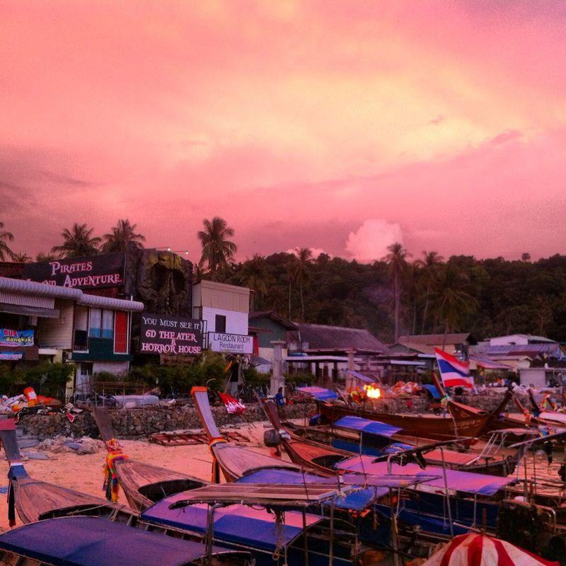 Il colore del tramonto a Phi Phi Don