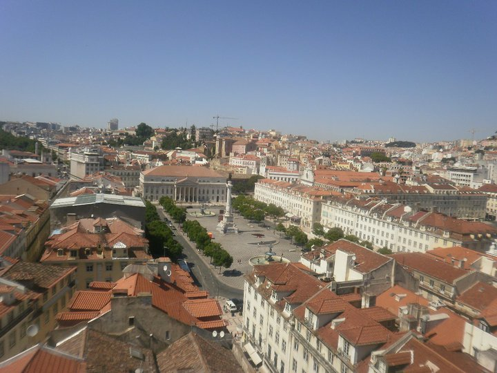 Vista di Lisbona dall'alto