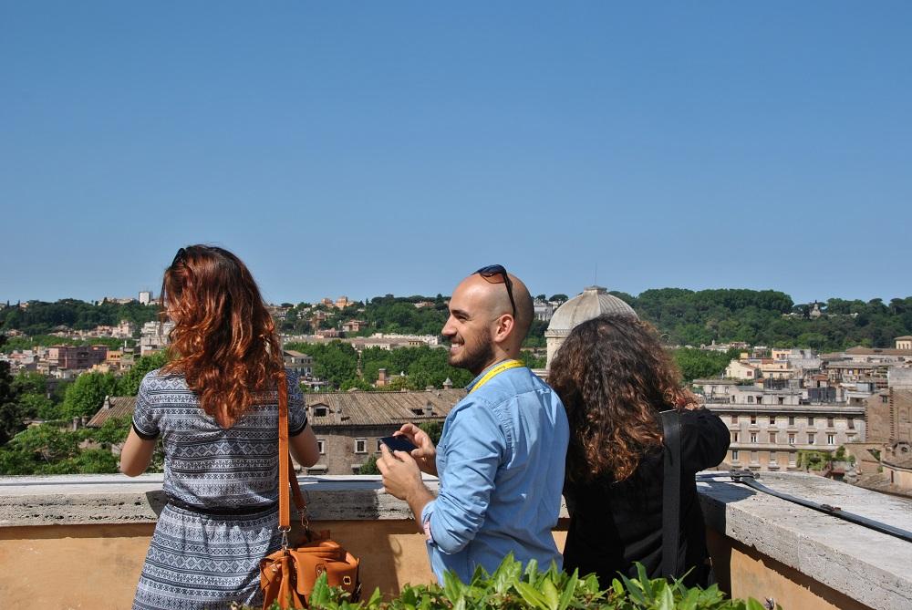 Blogger in Terrazza