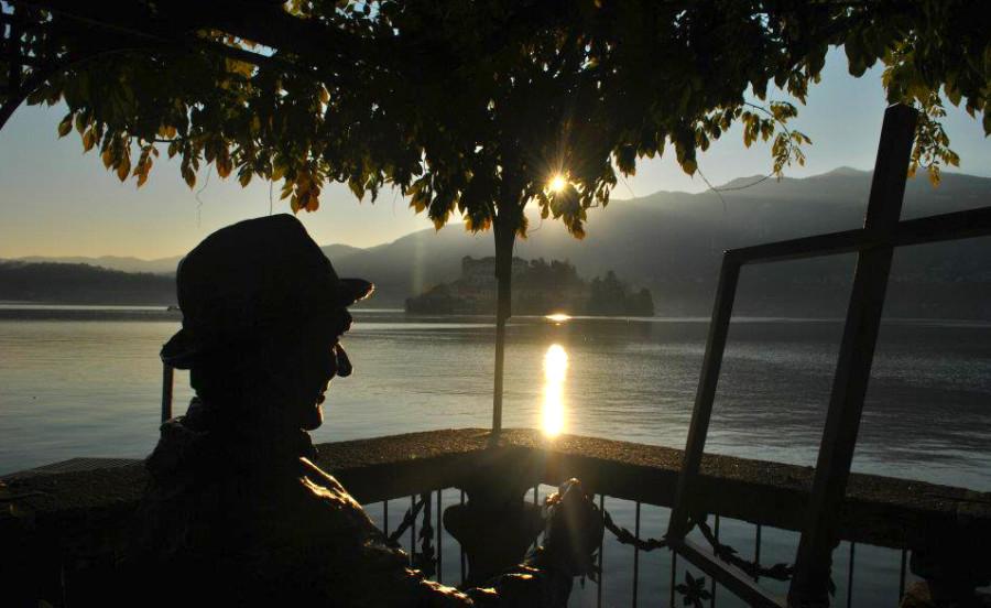 San Giulio al tramonto