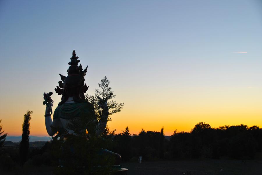 Un tramonto indimenticabile a Pomaia