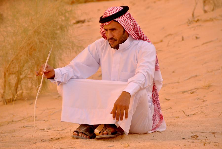 Un beduino del Wadi Rum