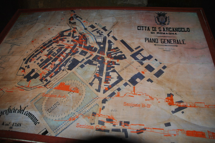 Mappa dei sotterranei di Santarcangelo