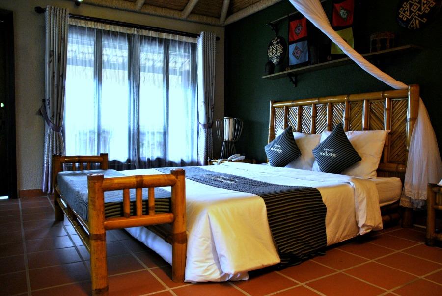 La camera del Mai Chau Ecolodge, dettagli
