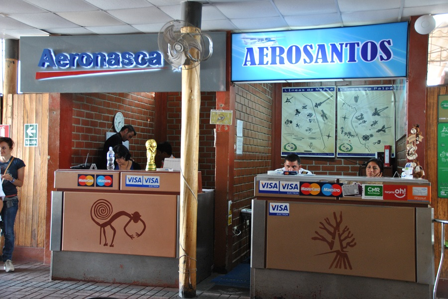 I desk dell'aeroporto di Nasca