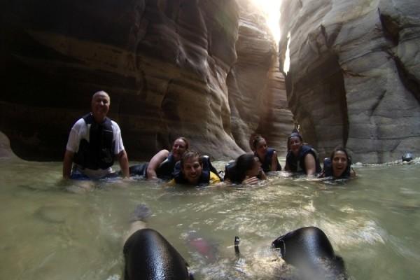 Blogger nel Wadi Mujib
