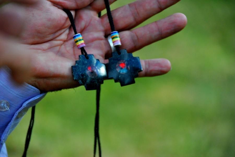 L'amuleto con le nostre pietre donateci dallo sciamano