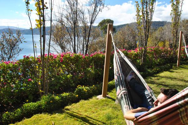 Relax sull'amaca della casa Andina