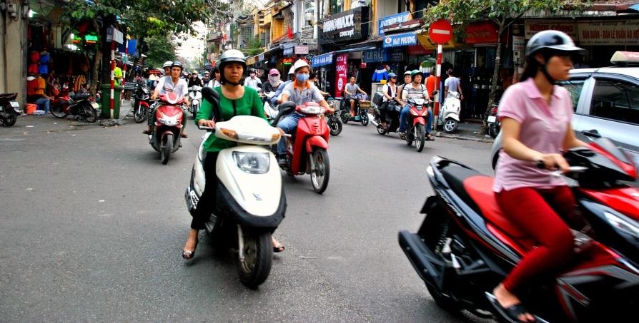 Motorini e altri mezzi di trasporto in Vietnam