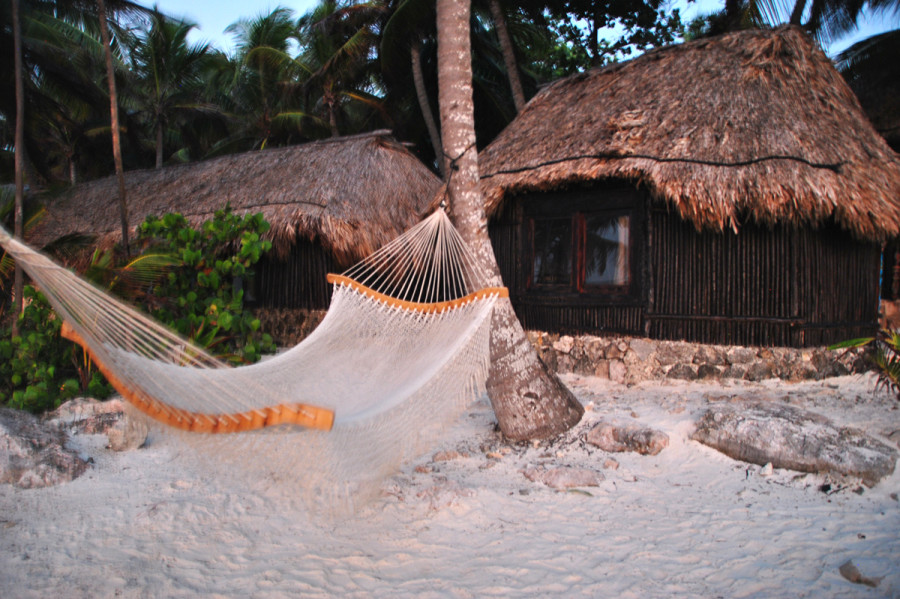 Tulum è una cabana in riva al mare