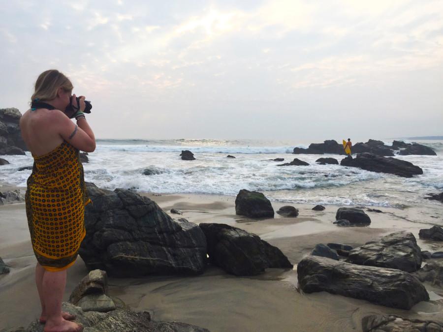 Behind a blogger in Puerto Escondido