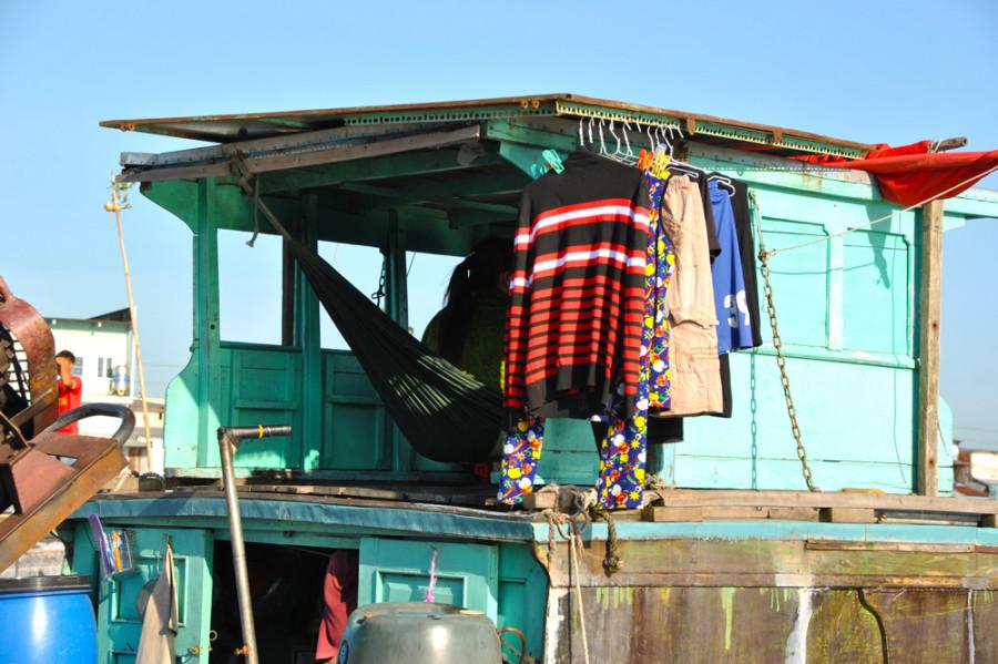 Vivere su di una barca, sul Mekong