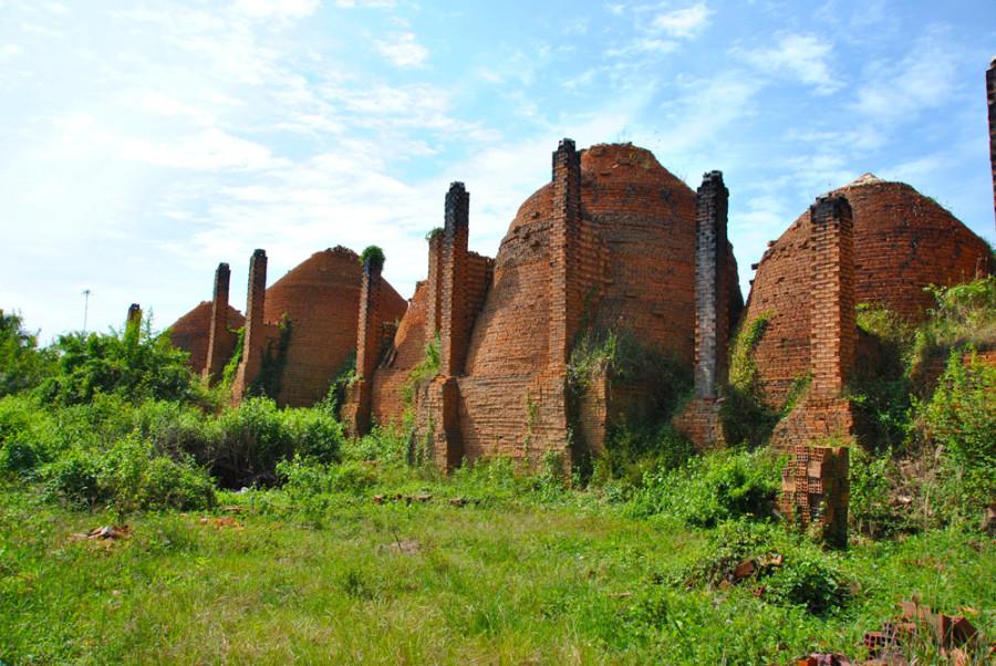 Fabbrica di mattoni sul Delta del Mekong