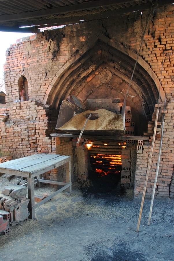 Il forno per cuocere i mattoni
