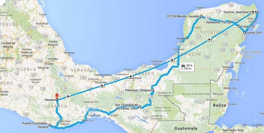 Itinerario due settimane Messico