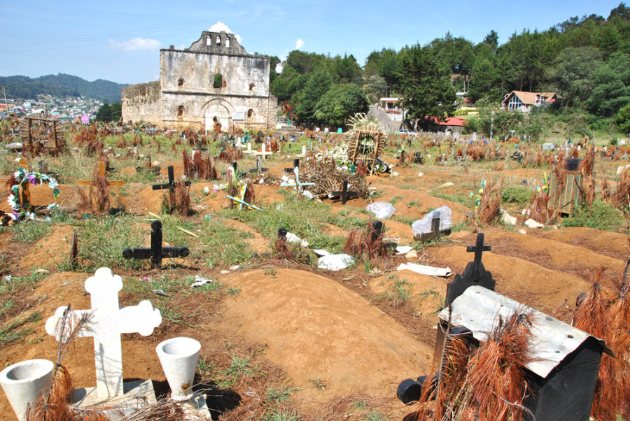 Dettagli del cimitero di San Juan Chamula