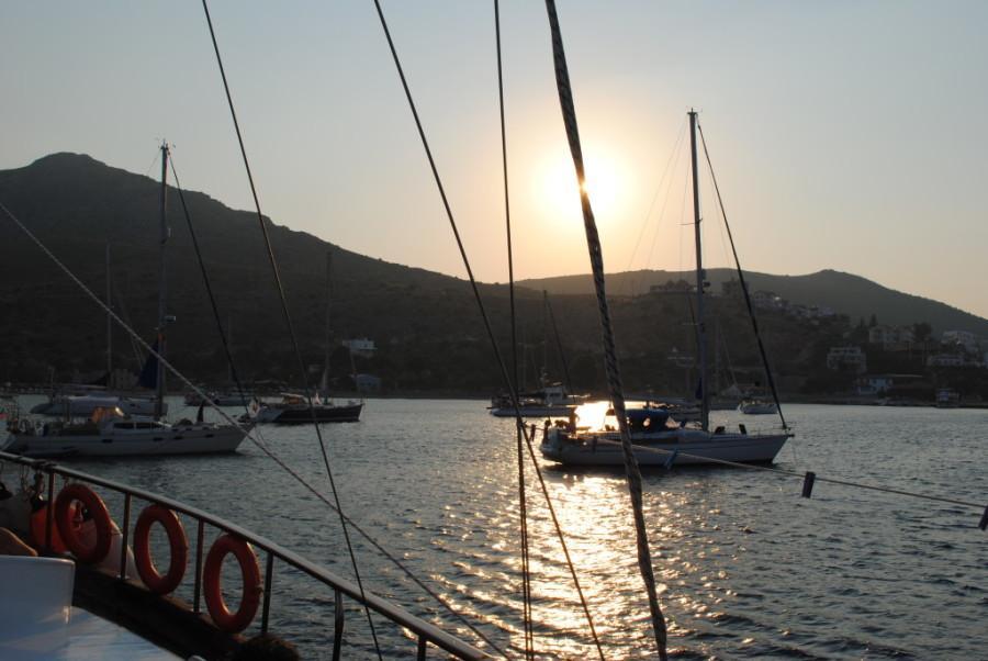 Turchia in barca al tramonto