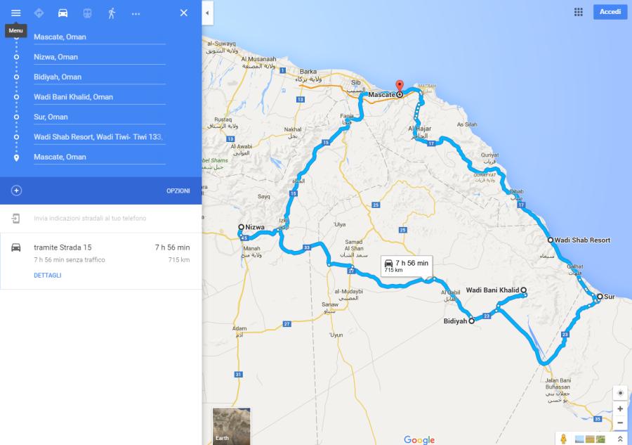 oman maps