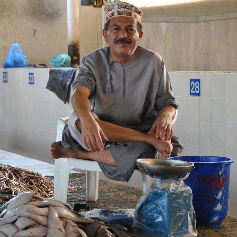 mercato pesce muscat
