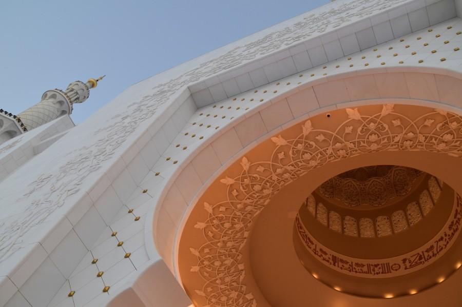 decori moschea abu dhabi