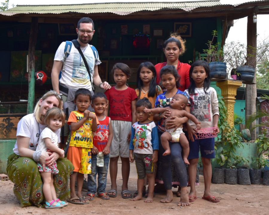 Cambogia con bambini piccoli - persone