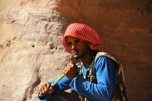 Pifferaio a Petra