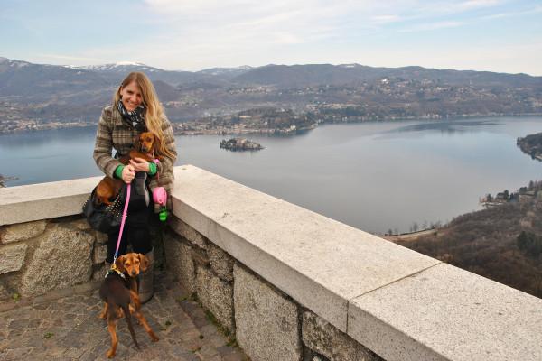 Sul Lago d'Orta con i cani